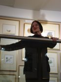 Introducing Geraldine Paine at the launch of her collection